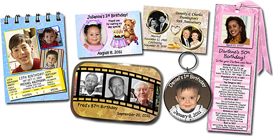 Photo Bookmarks, Mint Tins, Notebooks, Magnets, Key Rings, Buttons, Pocket Mirrors and Photo Invitations